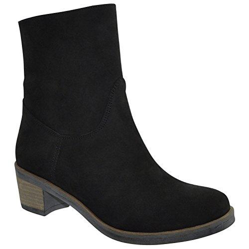 Vet JJ donna Nubuck Zwart Stivali Footwear W1wzT