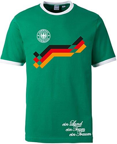 EZYshirt ® WM 2018 Deutschland T-Shirt Herren Retro-Look   Motiv 10