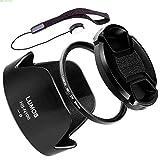 Lumos Protect Kit d'accessoires pour Nikon Objectif AF/P DX Nikkor 18-55mm f/3.5-5.6G VR/Pare-soleil à baïonnette Lumos HB de N106& Lumos slim Filtre UV 55mm & Bouchon d'objectif 55mm
