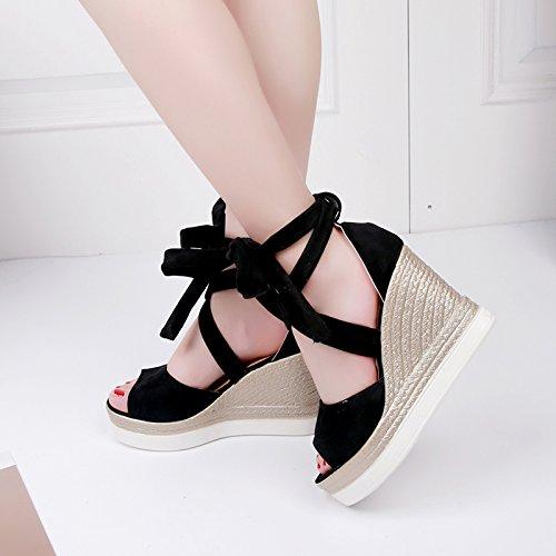 Lgk & fa sandali da donna estate dita cinghie con la pendenza con borsa  impermeabile con