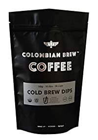 Colombian Brew - 100% Arabica Cold Brew Coffee, 10 Dips, 20 Cups