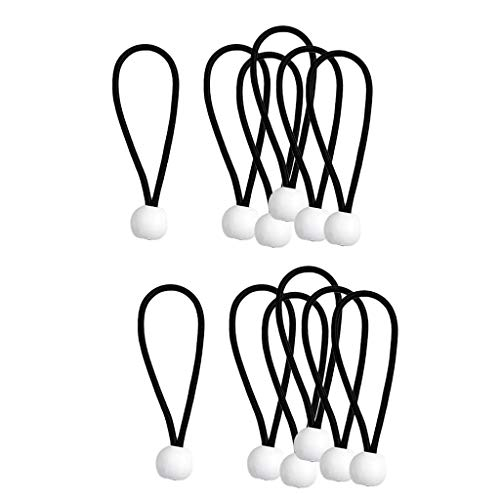 P Prettyia 12 Stücke Weiß Ball Bungee Binden Cord UV Beständig 4 Zoll Plane Baldachin Stretch Strap -