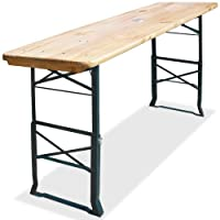 Height adjustable bar table 180 x 50 cm with umbrella holder Festivity Barbecue