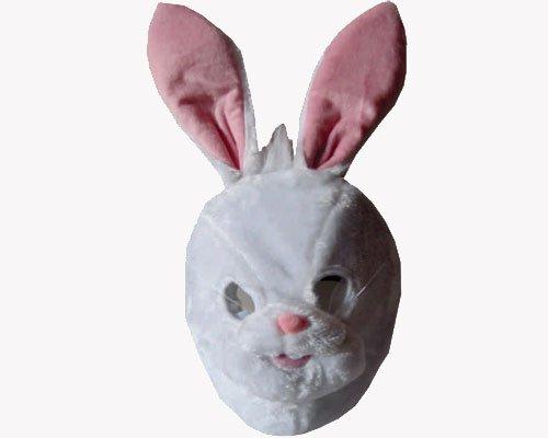 Dress Up America Weiße und rosa Plüsch-Häschen-Maske