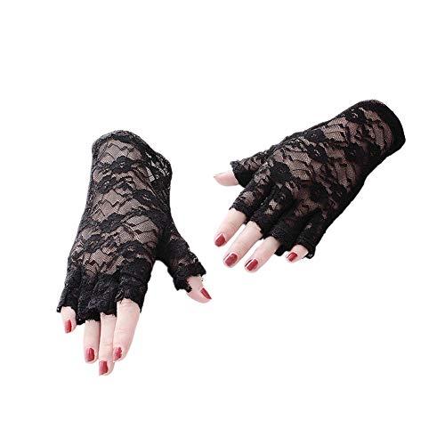 (Cosanter Spitze Fingerlose Handschuhe Elegant Brauthandschuhe Spitze Braut Sonnenhandschuhe Party Hochzeit)