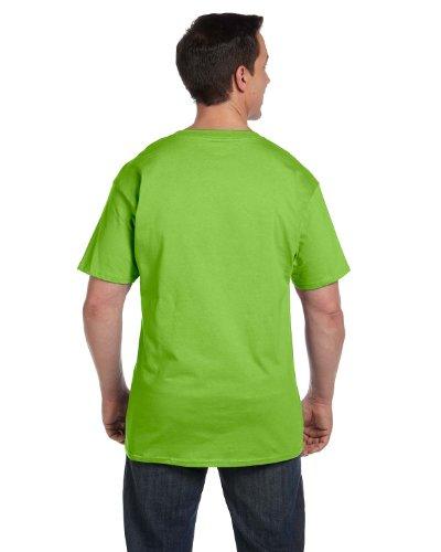 Hanes Beefy-T Adult Pocket T-Shirt Lime