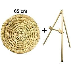 Sekula-Archery Disque de Paille Rond 65 cm avec Support