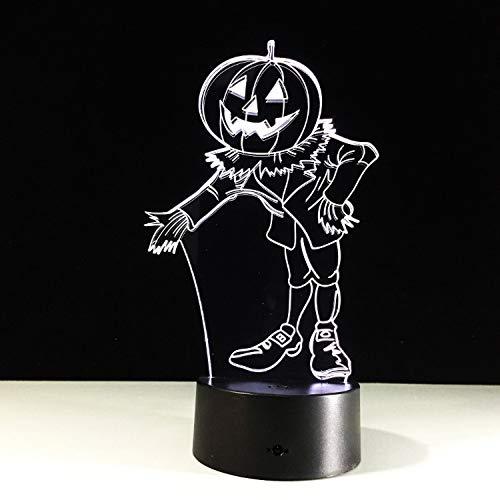 Halloween Kostüme Kürbisse 3D Nachtlicht Acylic Visuelle Led Usb Schreibtisch Tischlampe Für Zuhause Atmosphäre Lampe Baby Schlaf Beleuchtung