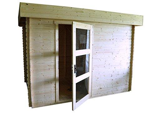 Gartenhaus Lunz - 3,20 x 2,0 Meter aus 19 mm Blockbohlen