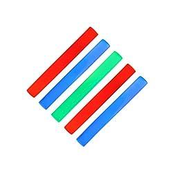 5 X Leuchtstab Mit 3 Led, Schaumstoffstab 6 Effekte, Partystick Mit Farbwechsel, Rot Grün Blau