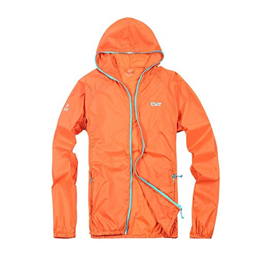 La Nuova Tuta Solare all'Aperto in Estate I Vestiti di Crema Solare Vestiti Leggeri Respirabile, Arancione, XL