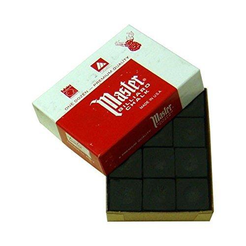 Kreide für Billard Master schwarz, 12Stück pro Box