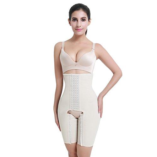 FeelinGirl Damen Miederbody Shaperwear Miederpants Corsage Korsett Schlank Bodysuit Miederhose Top...