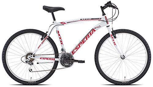 Esperia, Bicicletta mountain bike MTB, Uomo, Bianco, 26