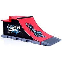 Juegos de Mini Skateboarding Accesorio Colección de Skate y de Rampa Fijado C #