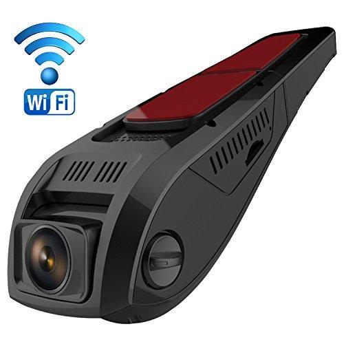 Pruveeo F5 Dash Cam, Telecamera per Auto con WiFi, Disegno Discreto