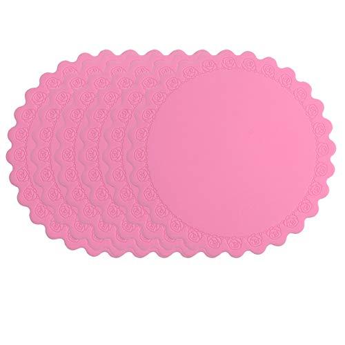 er Untersetzer Silikon Schüssel Matte Platte Isolation Pad kreative Coaster Tee Coaster Anti-Hot-Pad, rosa ()