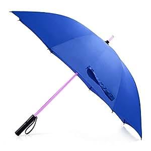 Bestkee Blu Lungo LED Spada Laser Ombrello Ombrelli Della con 7 Colori e Torcia Integrata Lusso Classico e Bello