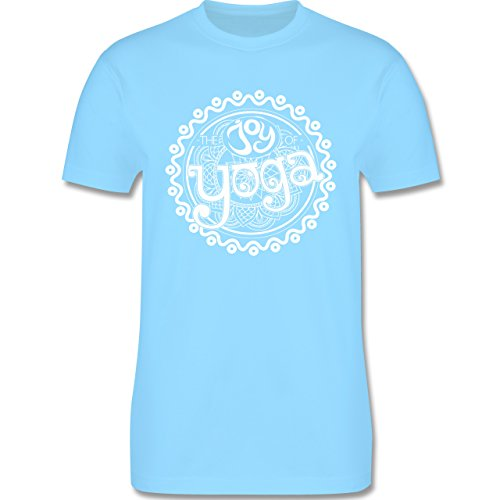 Wellness, Yoga & Co. - The joy of yoga - Herren Premium T-Shirt Hellblau