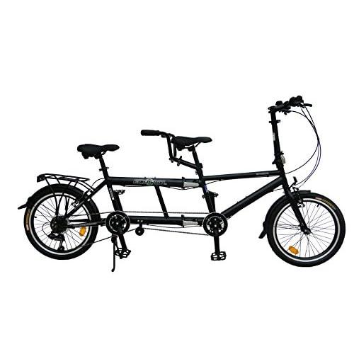 "41ITZKmx4HL. SS500  - ECOSMO 20"" New Folding City Tandem Bicycle Bike 7SP - 20TF01BL"