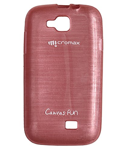 iCandy™ Soft TPU Shiny Back Cover For Micromax Canvas Fun A63 - Pink  available at amazon for Rs.165