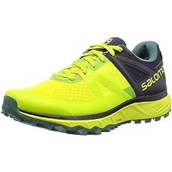 Salomon Trailster GTX, Zapatillas de Trail Running para Hombre, Verde (Acid Lime/Graphite/Hydro), 43 1/3 EU