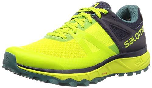 Salomon Herren Trailster GTX, Trailrunning-Schuhe, Wasserdicht, Grün (Acid Lime/Graphite/Hydro), 44 EU