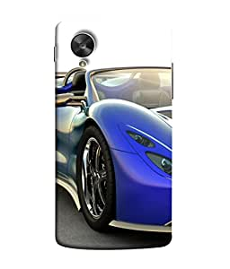 PrintVisa Designer Back Case Cover for LG Nexus 5 :: LG Google Nexus 5 :: Google Nexus 5 (Dream car machine beautiful speedy fast)