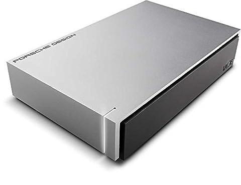 USB 3.0,Design Porsche, Stockage réseau, NAS-gris clair, de LaCie 6 To Silver
