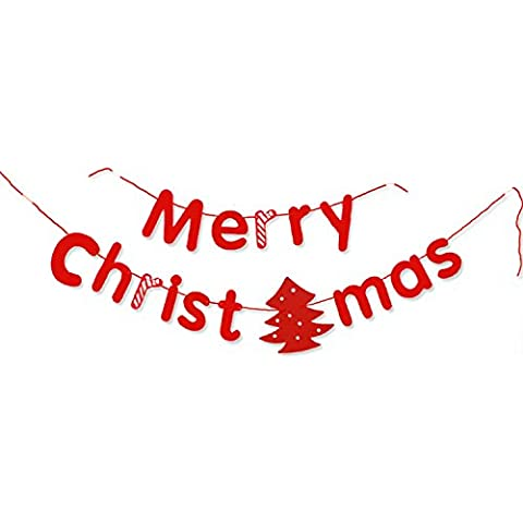 Guirnalda de Navidad,Moon mood® Decoración de Navidad - Accesorios de Navidad Regalos de Navidad de la Guirnalda Cartas Guirnalda Temas Navidad Decoración de Navidad Fine Productos Básicos Barra del Partido de la