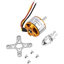A2212/5T 2700KV Outrunner Brushless Motor for RC Aircraft Model Airplane Aluminio stainless steel gold - by LC Prime®