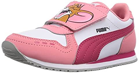 Puma Cabana Racer Tom & Jerry Kids, Unisex-Kinder Sneakers, Pink (salmon rose-white-virtual pink 02), 30 EU (11.5 Kinder