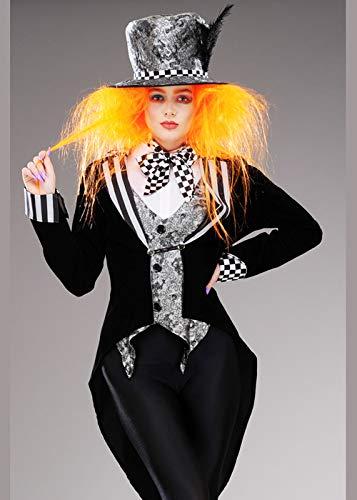 c Black Wonderland Mad Hatter Kostüm für Damen XS (UK6-8) ()