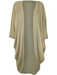 Femmes Kimono manches chauve-souris Taille Plus longue cascade Cardigan Haut 44-54