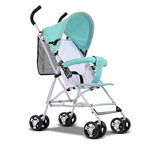 MYMGG Lite Kinderwagenwagen mit Markise Der tragbare Kinderwagen lässt Sich leicht zusammenklappen Geeignet für Auto- und Flugzeugreisen,Green -