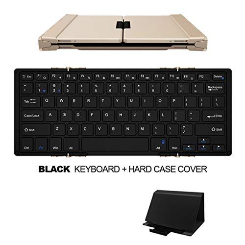 Zmsdt Drahtlose und drahtgebundene Bluetooth-Tastatur aus Aluminium mit schöner Hintergrundbeleuchtung für PC, IPad, iPhone und Tablets, Laptops (Farbe : SCHWARZ) -