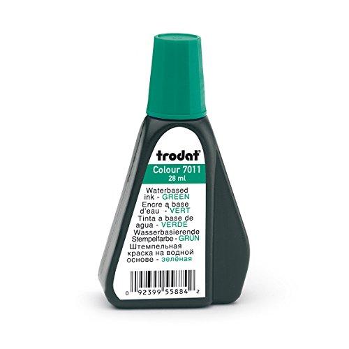 Trodat 7011 Stempelfarbe, 28 ml, grün