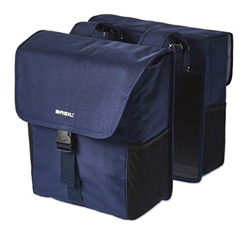 Basil Go Double Bag - Gepäckträger Doppeltasche Dark Denim Blue