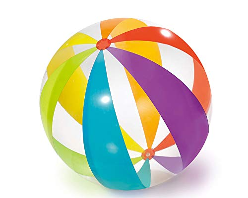 Polygroup Limited- Polygroup 8422259604112 Pelotas 107 Cm Hinchable, Color Transparente (60411)