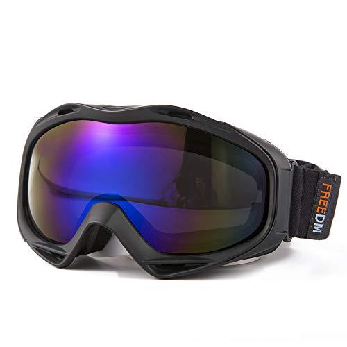 FREEM Skibrille für Damen & Herren, OTG Snowboardbrille mit Rahmen, Schneebrille 100{cebe0673e0701791145d70b758d875e86ca01e5bc5410a1384ba942013b2ed38} UV-Schutz Anti-Nebel, Helmkompatible Ski Goggles für Skifahren, Skaten, Snowboarden