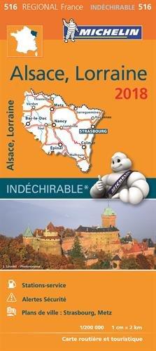 Carte Alsace-Lorraine Michelin 2018