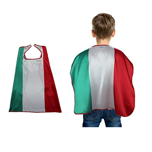 (Moresave Kinder Robe Italien Fahne 2018 WM, Nationalflaggen Mantel Kostüme Fußballfans Capes Outfits)