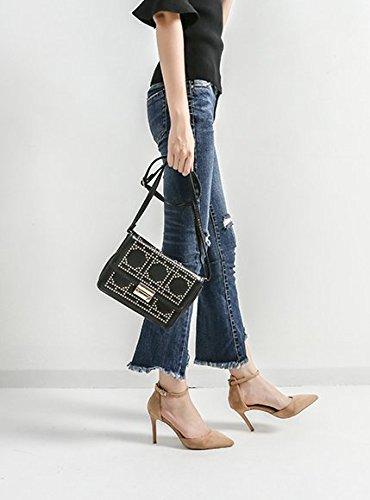 MDRW-Lady/Elegant/Arbeit/Freizeit/Feder Eine Schnalle 8 Cm Heels Mit Einem Feinen All-Match Nude Wies Manschette Sexy Schuhe 37
