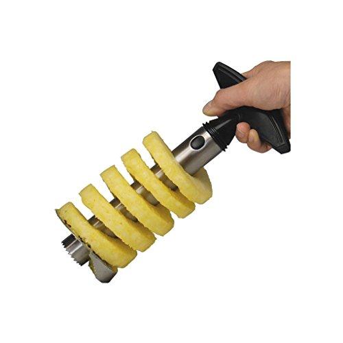 LafyHo Edelstahl-Ananas-Schäler Cutter Slicer Corer Peel Kern Scheibe Gadget-Werkzeug Ananas-corer-slicer