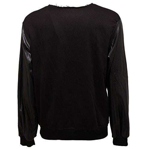 5327Q felpa uomo GIANNI LUPO nero sweatshirt men Nero