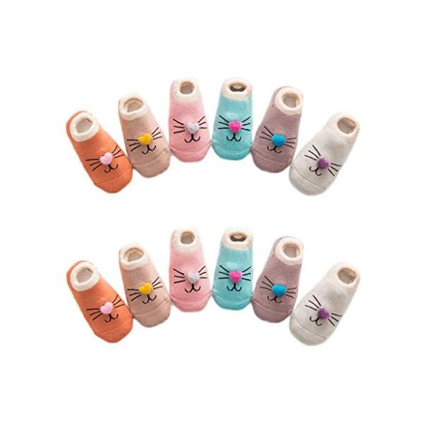 ZOOMY Baby Girls Boys Calcetines Antideslizantes para niños pequeños con agarres Calcetín de Piso de Dibujos Animados… 1