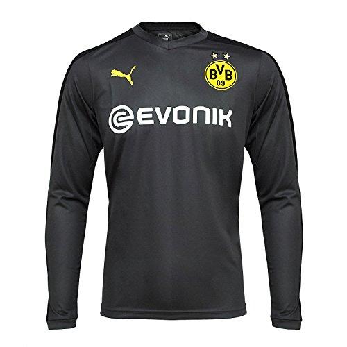 Puma BVB Borussia Dortmund Kinder langarm Trikot Fußball Jersey - 751779-03 dunkelgrau, Größe:140 (Puma Fußball Trikots)