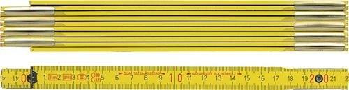 BMI 972900200 Holzgliedermaßstab aus Buchenholz, Gliederstärke 3 mm Gelb