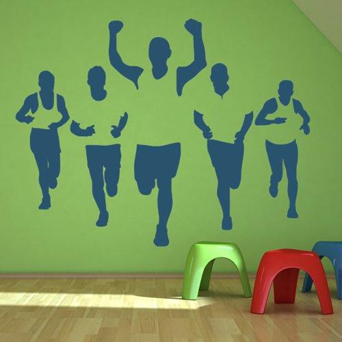 marathon-runners-silhouette-atletica-leggera-wall-stickers-palestra-di-casa-decor-art-stickers-dispo