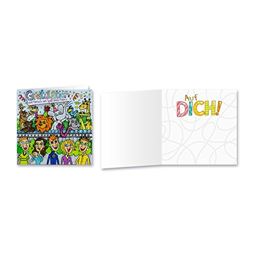 Sheepworld, Gruss & Co - 90038 - Klappkarte, mit Umschlag, Geburtstagsgrüsse mit Pop Nr. 38, Gratulation und tierisch viel Spaß beim Feiern